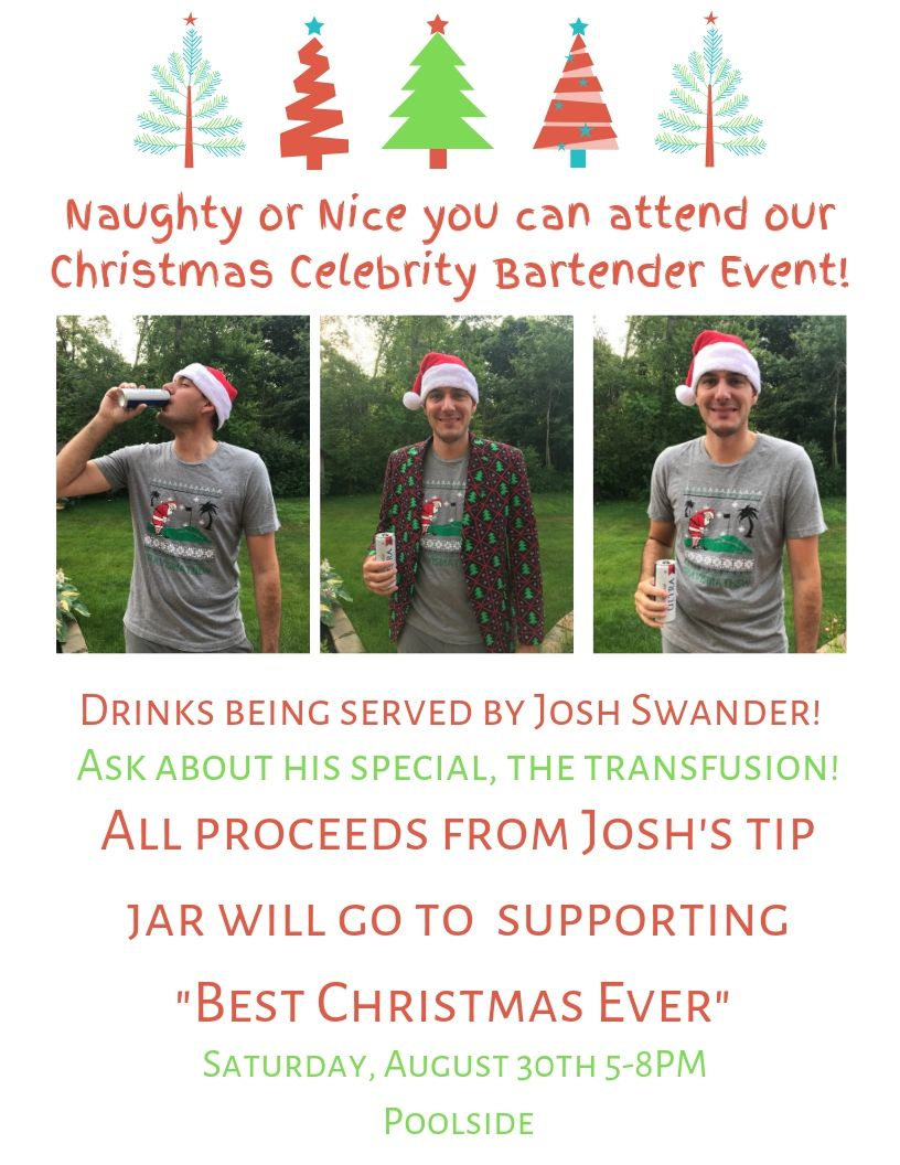 Cleveland Christmas Events 2019 Christmas Celebrity Bartender | Weymouth Country Club | 2019 08 30